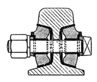 Fig. 17 - Isolerende las (dwarsdoorsnede)