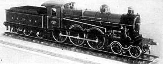 Afb. 2 - Model van sneltreinlocomo- tief N.B.D.S. 31 (1908) schaal 1 : 10. (Foto: Nederlands Spoorweg- wegmuseum, Utrecht.