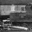 """NS 8101 (ex. SS 651) gebouwd door machine-fabr. """"Ertda"""" 1901. Fabrieksfoto ,,Breda"""". 1 Aug. 1950: 18 loc'n."""