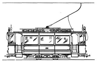 HTM Serie 21150 MAATSCHETS standaardmotorwagen op schaal 1:87 (hO)
