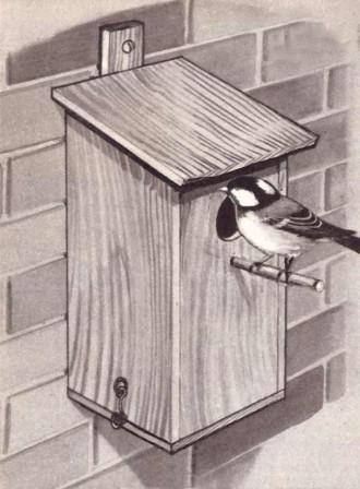 een vogelhuisje