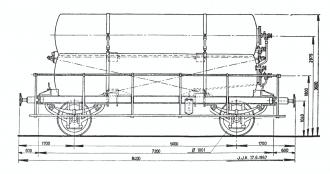 gaswagen technische tekening 3 ketels zijaanzicht