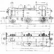 Modelbouwtekening tenderlocomotief H.S.M. serie 1100