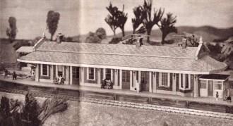 klein modelbaan station zelfbouw