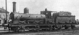 Afb. 19 - C locomotief S.S. nr. 164 serie 161-174, 181-205). Beyer Peacock & Co., Manchester 1865-1878.(Foto L. Derens)